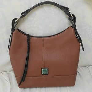 Light and Dark Brown leather Dooney & Bourke purse